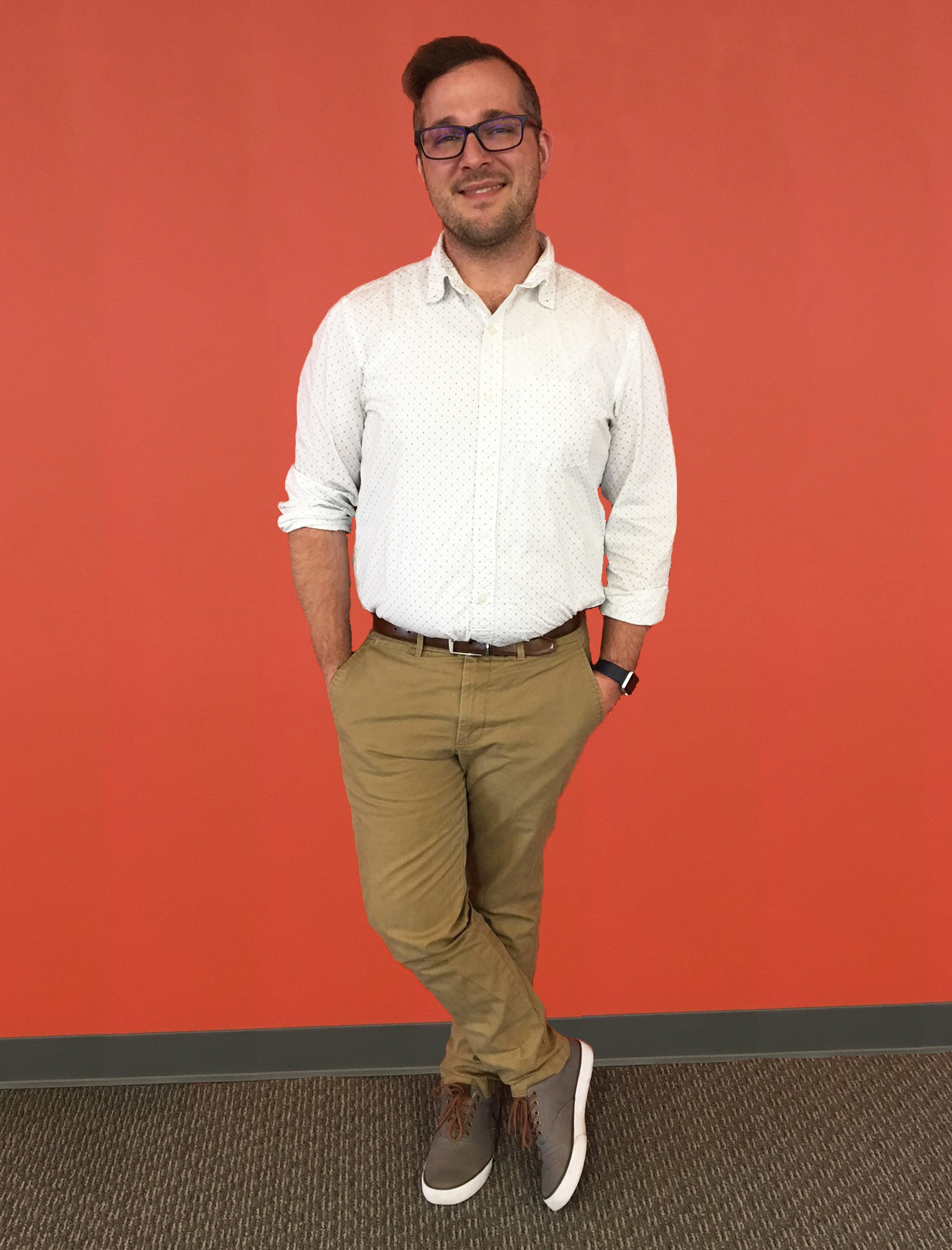 Our Senior Operations Coordinator, Cory, in Summer-Friendly Work Attire